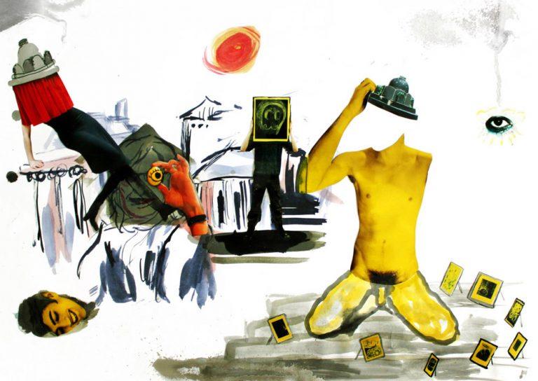 "Collage by Niina Lehtonen Braun, ""Secret Chapter"" exhibition"